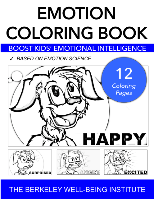 Emotion Coloring Book Immediate Download